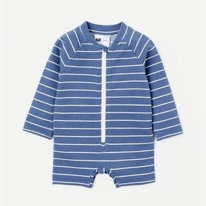 H&M baby one piece striped swimsuit